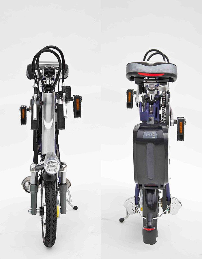 bicicletta elettrica pieghevole fonte retro