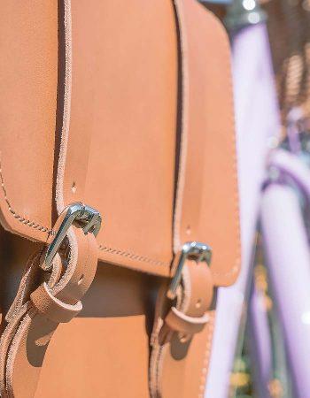 borse laterali in cuoio per bici