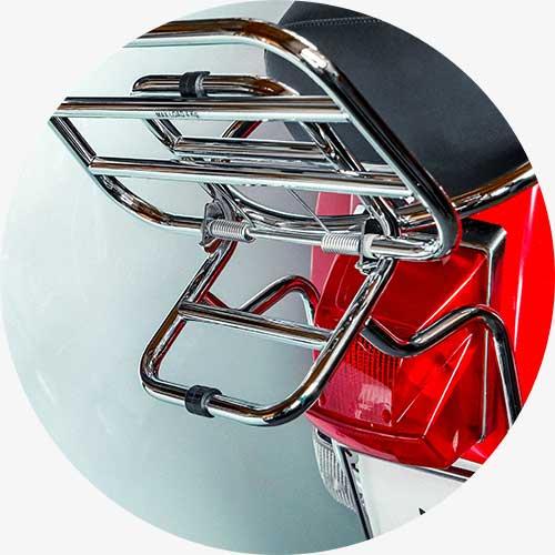 montaggio portapacchi posteriore vespa px