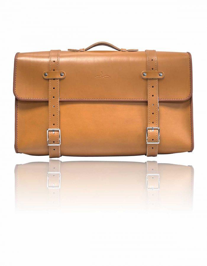 valigia epoca fiat 500 cuoio vintage