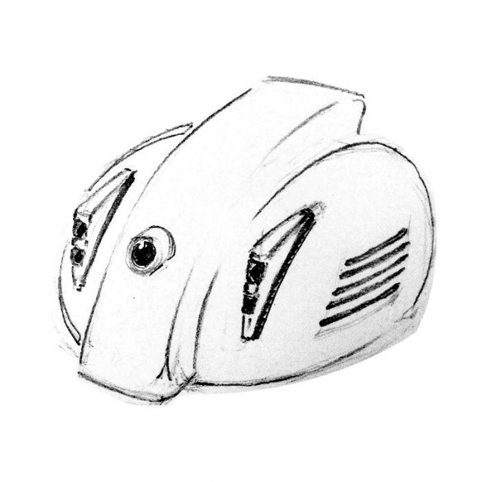 disegno applicazione su vaspa fanalini sacche