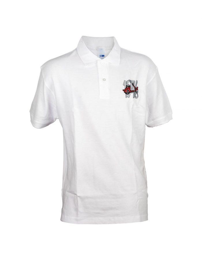 polo maglia bianca vespa faro basso 1946